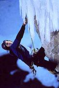 Rock Climbing Photo: Ryan Nelson nearing the ice.