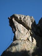 Rock Climbing Photo: Me in the mouth of the Lizard, Holcomb Valley