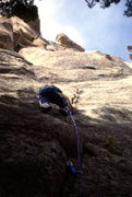 """Rock Climbing Photo: First ascent of """"Cheeses of Nazareth"""" 5...."""