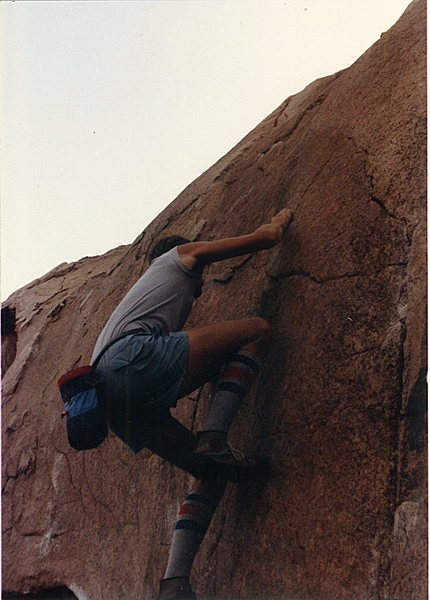 Rock Climbing Photo: Me on Five Niner.