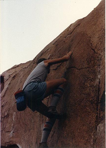 Rock Climbing Photo: Me on Five Niner.