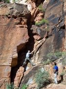 Rock Climbing Photo: First 5th class section on Lady Mountain mountaine...