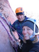 Rock Climbing Photo: Bonnie Kelso and Ron Graham at top of first pitch....