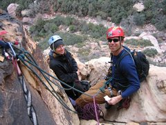 Rock Climbing Photo: Bonnie Kelso and Andrew Jackson at belay station.