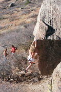 Rock Climbing Photo: Foot work that made Horsetooth famous.