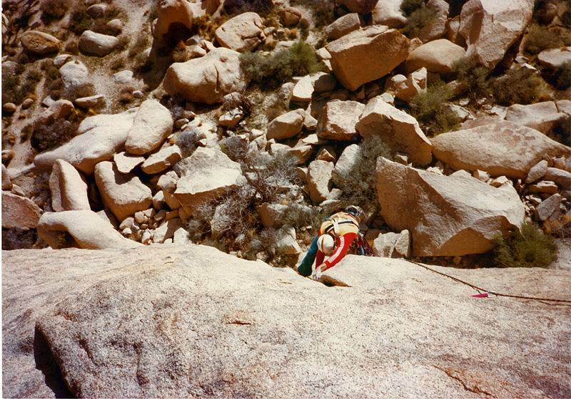 Rock Climbing Photo: Rob Mulligan coming up the second pitch mid 80's.