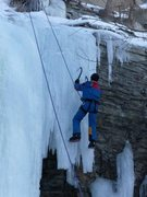 Rock Climbing Photo: Richard Sletten doing roof variation of route 4
