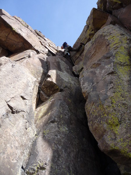 Rock Climbing Photo: Chimney Route.