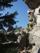 Rock Climbing Photo: Just after the crux reach....
