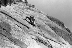 Rock Climbing Photo: Not sure what route I'm on here. Late seventies.