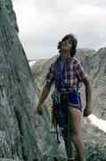 Rock Climbing Photo: Chuck Grossman somewhere in the park. Looks like H...