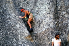 Rock Climbing Photo: Then Gunnison local Doug Scott in Yosemite.