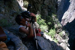 Rock Climbing Photo: International man of adventure John Catto filming ...