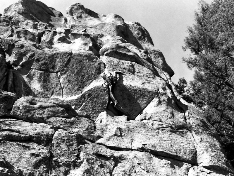 Chuck pulls down another hard first ascent in the Evergreen area.