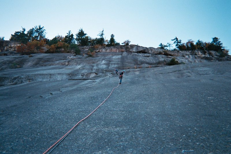 Rock Climbing Photo: Rapping off Standard after almost getting sliced i...