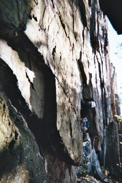Doug S. climbing at Ragged