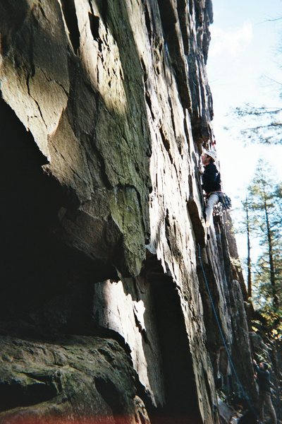 Doug climbing at Ragged