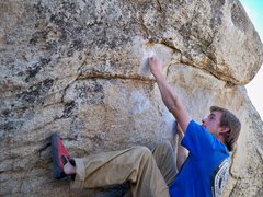 Rock Climbing Photo: Me crimping the crimps on Milk the Milks