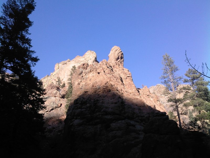 Rock Climbing Photo: The view from Graduation Boulder.  The summit is t...