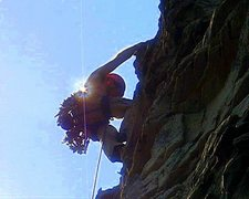 Rock Climbing Photo: Near the finish on Comfortably Numb.  Photo by Mic...