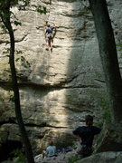 Rock Climbing Photo: Jeremy on Quaker State on a sweltering summer day