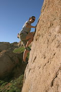 Rock Climbing Photo: Agina Sedler in the Accomazzo Boulders.