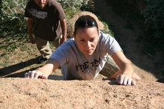 Rock Climbing Photo: Agina Sedler in the Accomazzo Boulders.