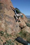 Rock Climbing Photo: Al in the Accomazzo Boulders.