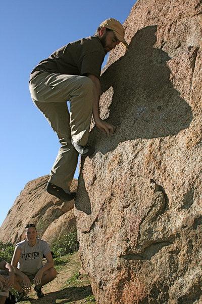 Rock Climbing Photo: Nate in the Accomazzo Boulders