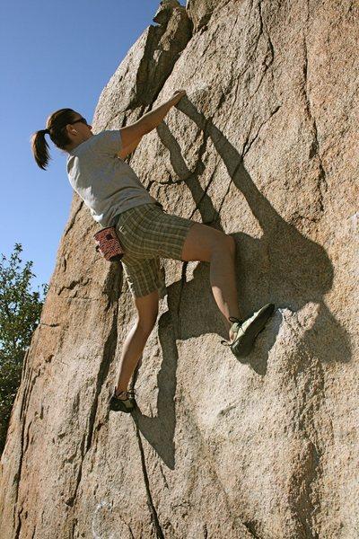 Rock Climbing Photo: Agina on Beehive Crack.