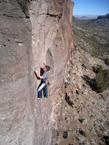 Rock Climbing Photo: Making it look easy on a fine winter day. January ...