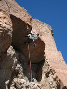 Rock Climbing Photo: George Perkins cranking through the discomfort. Ja...