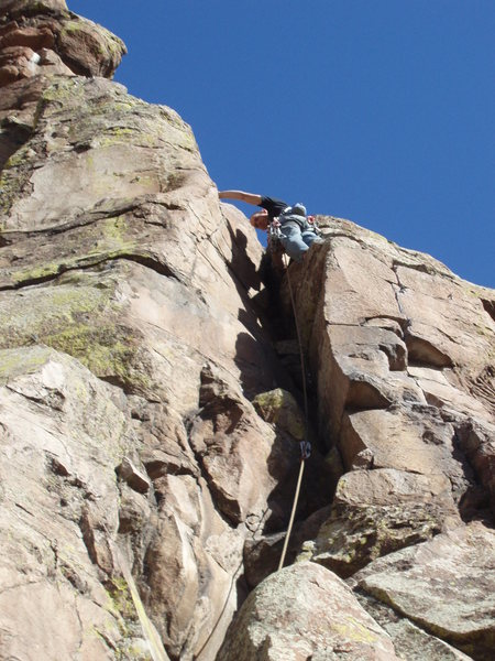 Rock Climbing Photo: Almost up.
