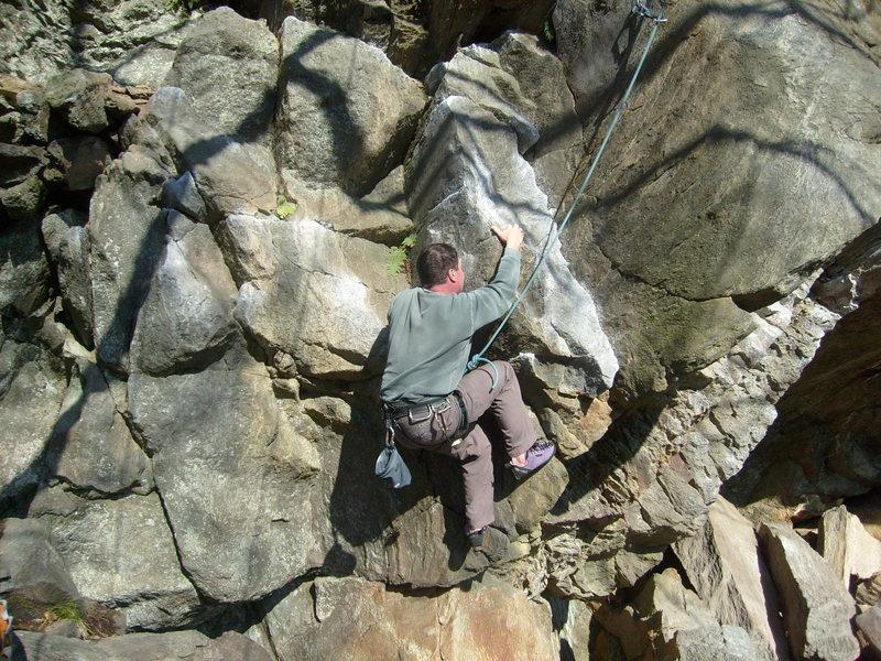 Rock Climbing Photo: Unlce G starting Yoda.
