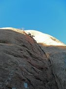 Rock Climbing Photo: The line follows corner crack up to the summit.  T...
