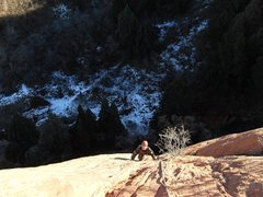 Rock Climbing Photo: Terrific climb on a sunny day in January.  Climb f...