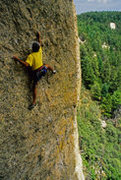 Rock Climbing Photo: Jim Scott at the Fortress, Mt. Lemmon