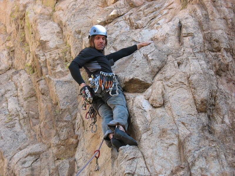 Rock Climbing Photo: Check out the cool chalk bag I picked up at Summit...