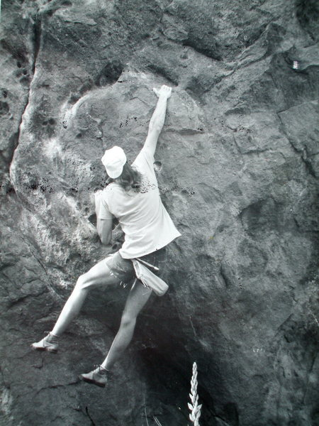 Jim Holloway bouldering on Flagstaff.
