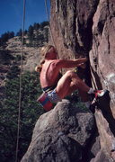 Rock Climbing Photo: Skip Guerin on Distant Dancer, photo: Bob Horan.