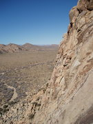 Rock Climbing Photo: Looking climbers left along Lost Horse Wall.  Pitc...