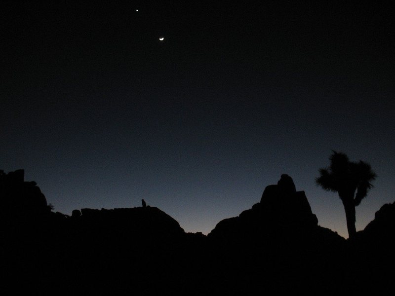 Dihedral Rock after dark, Joshua Tree.