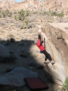 Rock Climbing Photo: Bouldering at the Hemingway Boulders, Joshua Tree.