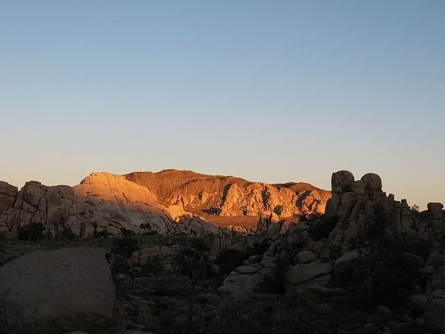Last light over Hidden Valley and the Comic Book, Joshua Tree NP