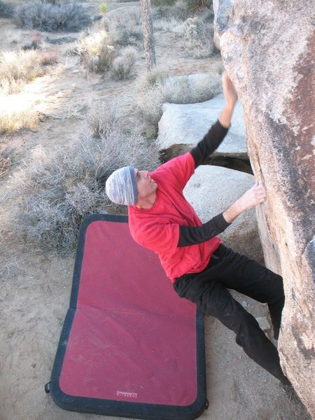 James on The Undertaker (V0+), Joshua Tree.