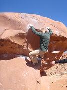 Rock Climbing Photo: Skyler right before the crux