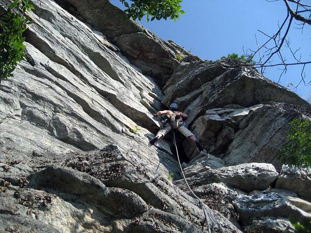 The third pitch...pretty nice climbing.