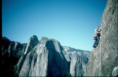 Rock Climbing Photo: East Buttress, El Cap. Yosemite.  This is the easy...
