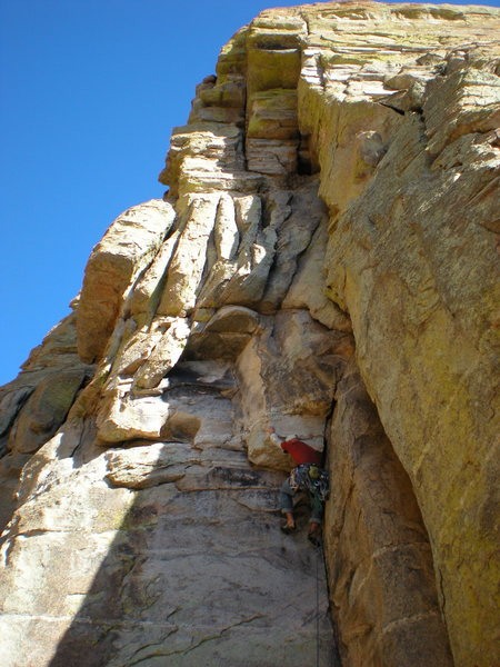Rock Climbing Photo: Getting into the upper part.