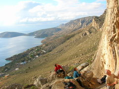 Rock Climbing Photo: Kalymnos, Greece.  Going there mid-Oct is probably...